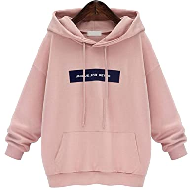 92f4ccab6fc Image Unavailable. Image not available for. Color  123 TEST Sweatshirts  Hoodie Pink   Gray Plus Size Sweatshirt Hoodies Women Long Sleeves ...