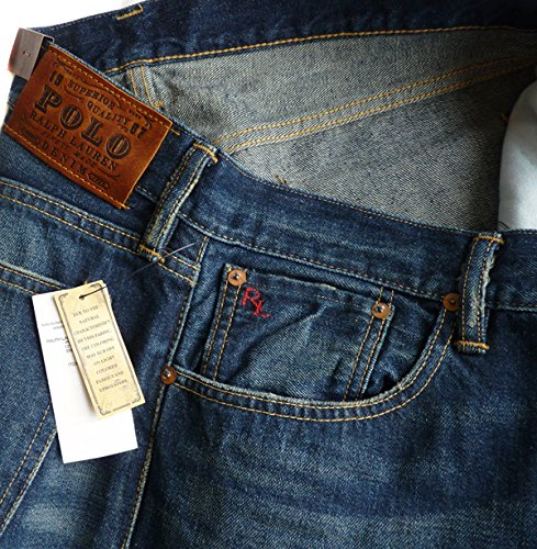 Ralph Lauren New Polo Mens Varick Slim 625 Zip-Fly Jeans (W 36 ...