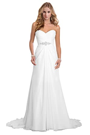 High Quality Chloyi Womenu0027s Sweetheart Solid Strapless Long Gown Dress, Ivory, US15w