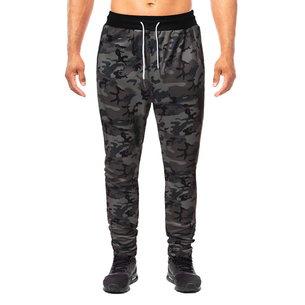 Jogger Pants for Men Slim Fit Workout Pants Running Training Sweatpants Casual Trouser Outdoor Hiking Sweatpants with Pockets S-2XL