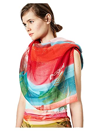 Desigual Taille Unique foulards 72w9wa7 polynesia rouge  Amazon.fr ... 49dd2955865