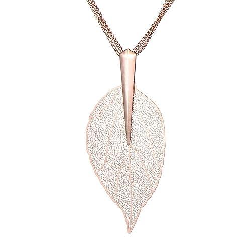 lange Halskette mit Zirkonia Anhänger Edelstahl Kette Damenkette Ankerkette