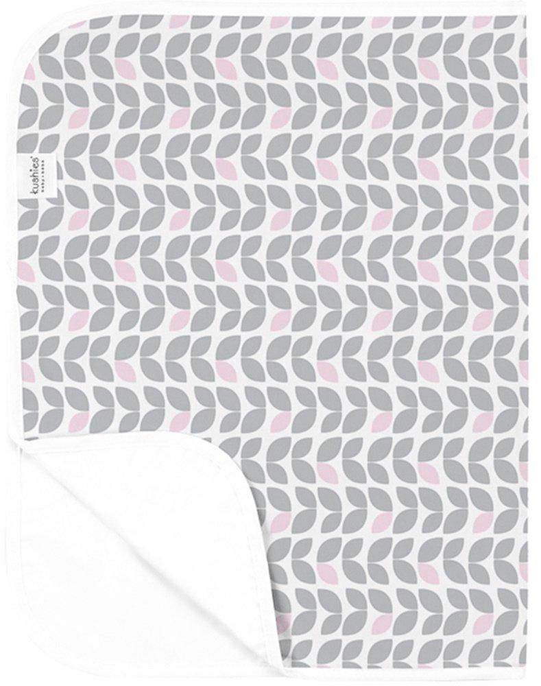 Kushies P210-517 Wasserdichte Wickelunterlage, Blätter grau/rosa Blätter grau/rosa Bisal GmbH - Baby