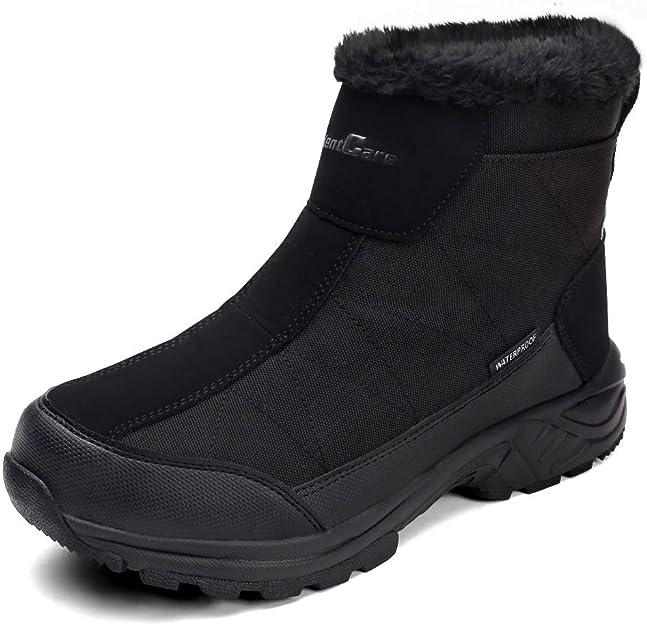 SILENTCARE Men's Warm Snow Boots, Fur