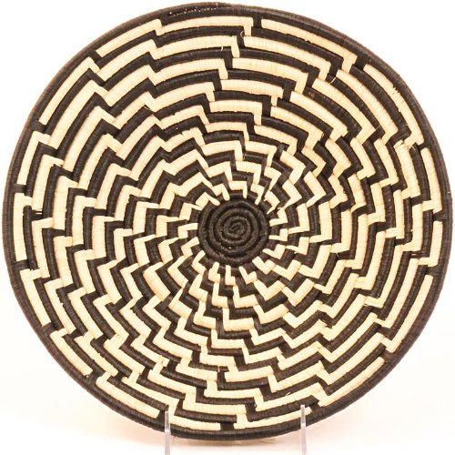 Fair Trade Uganda African Bukedo & Raffia Bowl 11.5-12.5