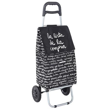 Laroom Carro Compra, Metal, Negro: Amazon.es: Hogar