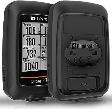 TUSITA Estuche para Bryton Rider 310 330 - Funda Protectora de Silicona para la Piel - Ciclismo GPS Accesorios de computadora: Amazon.es: Deportes y aire libre