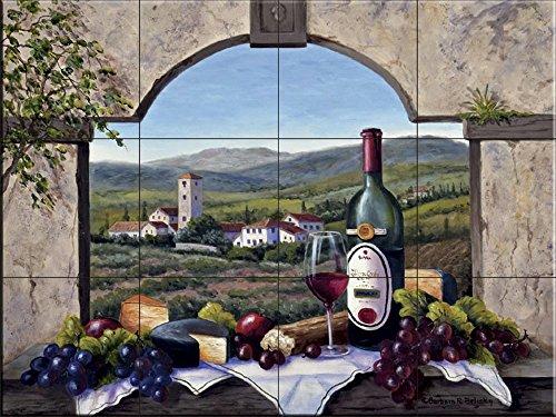 Ceramic Tile Mural - A Tuscany Vista- by Barbara Felisky - Kitchen backsplash/Bathroom Shower