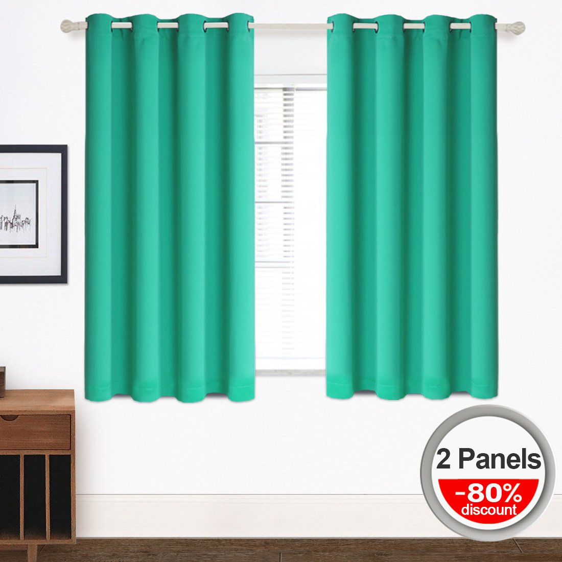 Blackout Curtains (2 Panels) O...