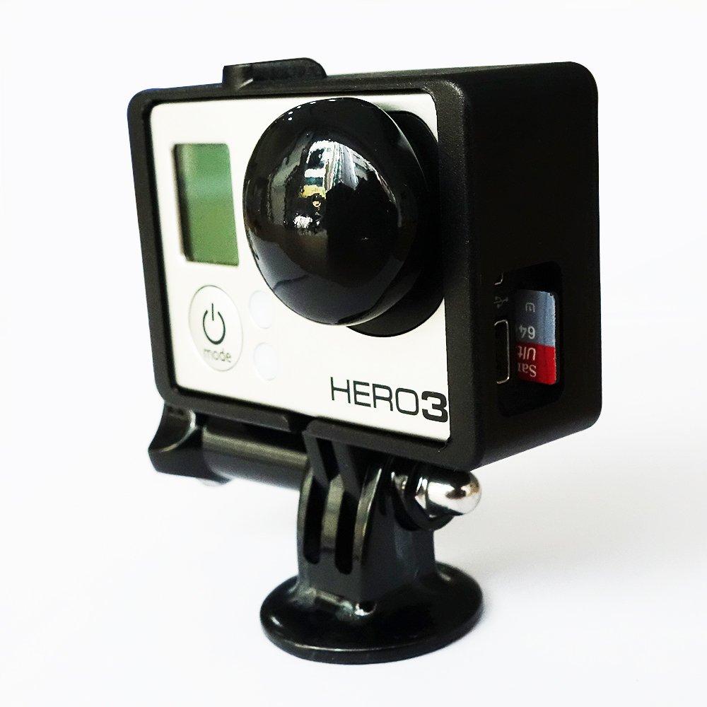 Moonshuttle - Carcasa, trípode y tapa para lente para Gopro Hero3