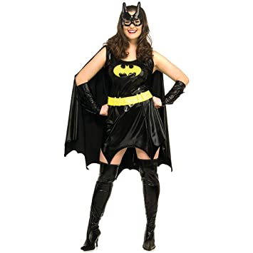 ADULT WOMENS BATGIRL BATMAN PLUS SIZE HALLOWEEN FANCY DRESS COSTUME - LARGE  sc 1 st  Amazon UK & ADULT WOMENS BATGIRL BATMAN PLUS SIZE HALLOWEEN FANCY DRESS COSTUME ...