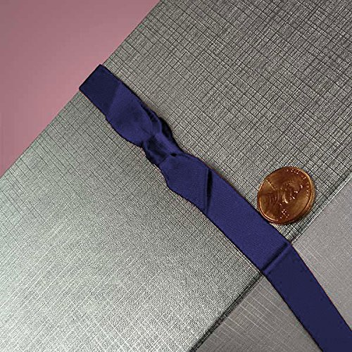 7/16 X 16 NAVY SATIN BOW STRETCH LOOPS by Paper Mart