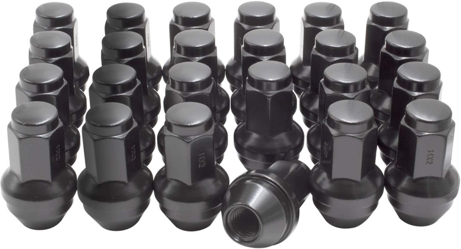 M14 X 2.0 Black Wheel Lug Nuts for Most Ford Lincoln Trucks SUVs 4L3Z1012A 7L1Z1012A Wheel Lug Nut (24)