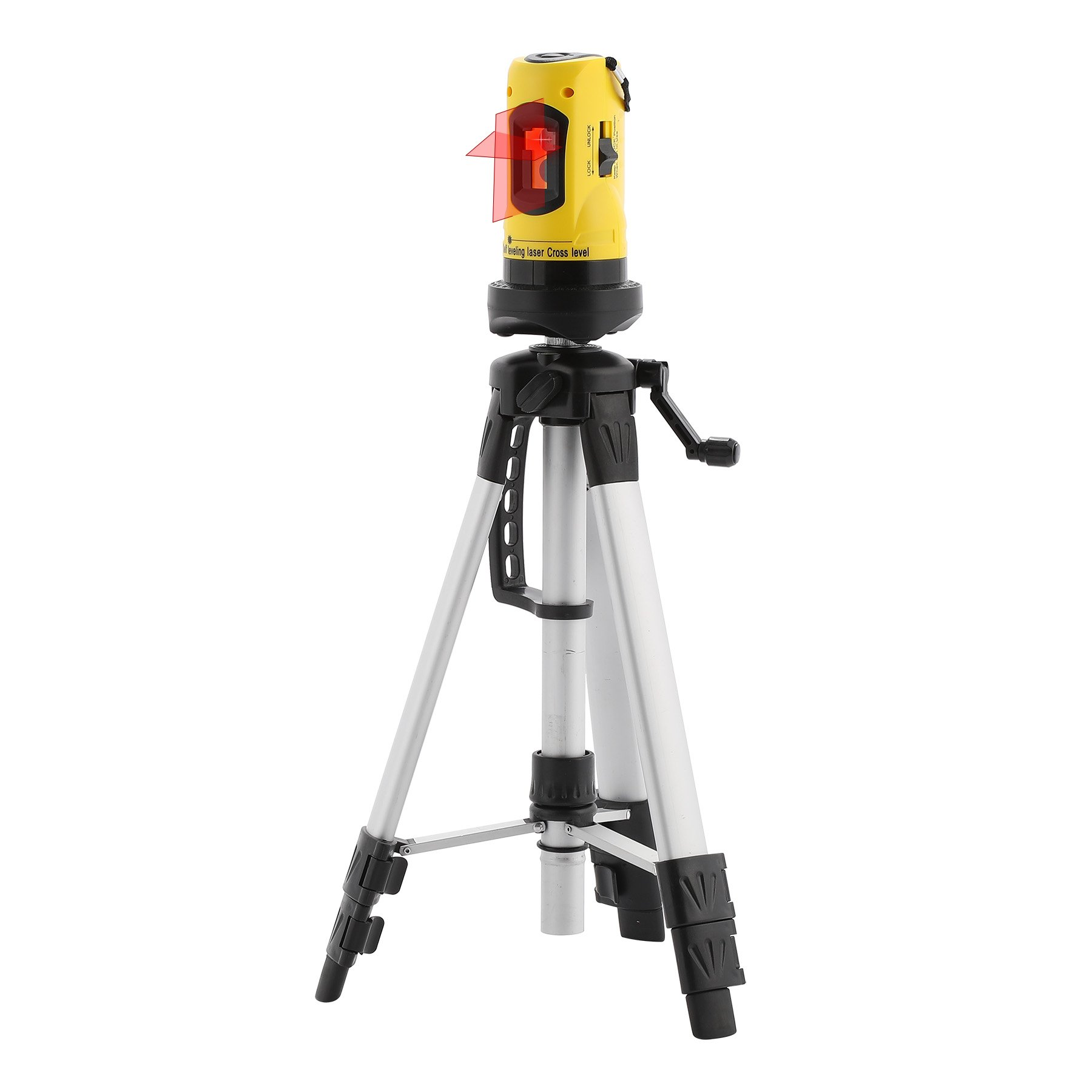 CO-Z Laser Level with Tripod, Auto Leveling Kit Combo with Horizontal/Vertical/ Cross-Line, Dual-module Self-Leveling Tool Set for Builders & Contractors