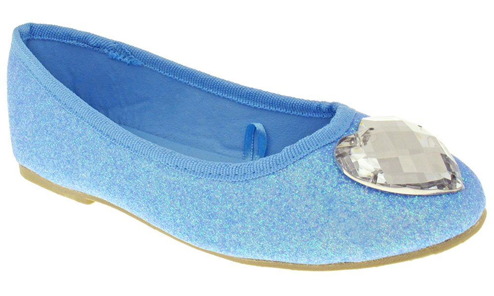 Capelli New York Neon Fine With Heart Gem & Gros Binding Girls Flat Blue Combo 4