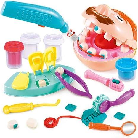WDXIN Juego de Juguetes de Dentista para niños Pretende una Caja de Herramientas médica Adecuada para niños. Juegos creativos para niños Mayores de 3 años.: Amazon.es: Deportes y aire libre