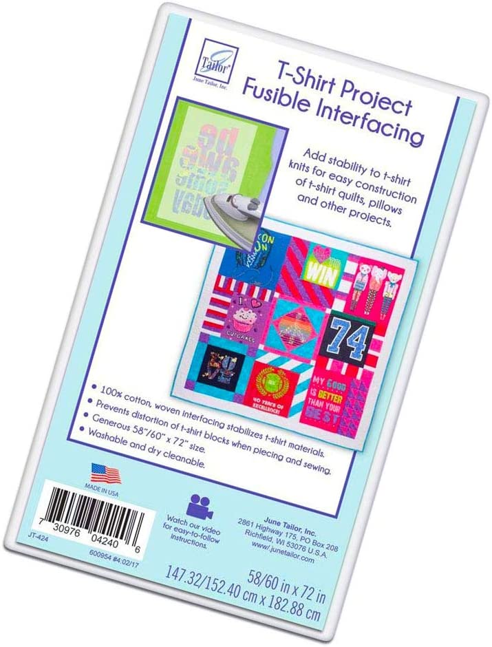June Tailor T-Shirt Project Fusible Interfacing 60 by 72-Inch White
