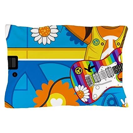 41c36abf8e Amazon.com  CafePress Hippie Boy and Camper Van Pillow Case Standard ...