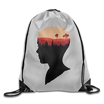 Extraño cosas hermosas personalizadas cordón mochila deporte mochila cordón bolsa de impresión: Amazon.es: Hogar