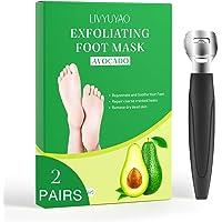 Foot Peel Mask 2 Pairs,Foot Mask Avocado, Foot Peeling Mask for Dry Cracked Feet, Exfoliating Foot Mask, Moisturizing…
