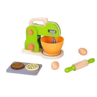 Pidoko Kids Toy Kitchen Accessories - Pretend Play Appliances - Mixer Set (8 Pieces): Toys & Games
