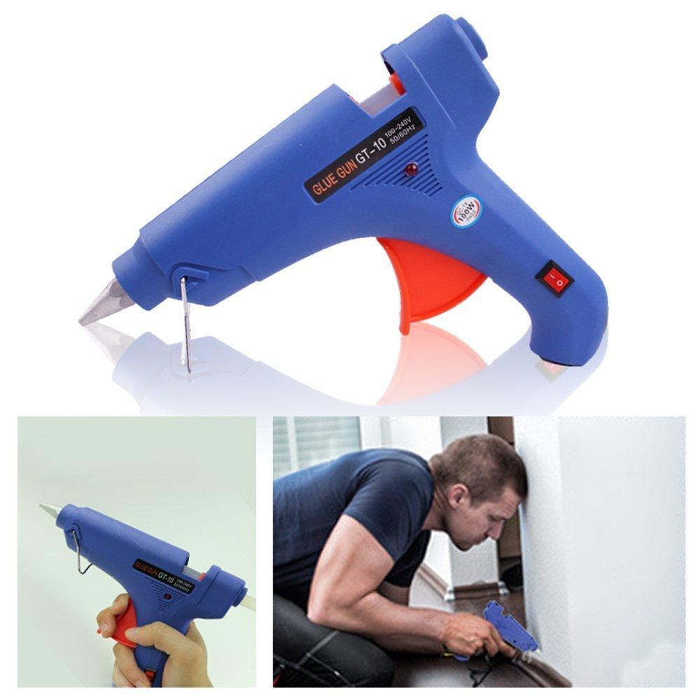 100W Pistolas de Palos de Pegamento Caliente para DIY Arte Manualidades Reparaciones R/ápidas LARS360 Mini Pistola de Silicona con 25 Psc Barras de Pegamento Termofusible