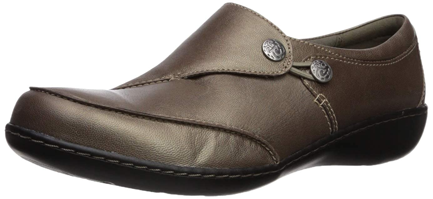 Pewter Clarks Women's Ashland Lane Q Slip-on Loafer
