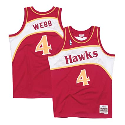 Image Unavailable. Image not available for. Color  Mitchell   Ness Spud  Webb Atlanta Hawks ... 9edcbbec7