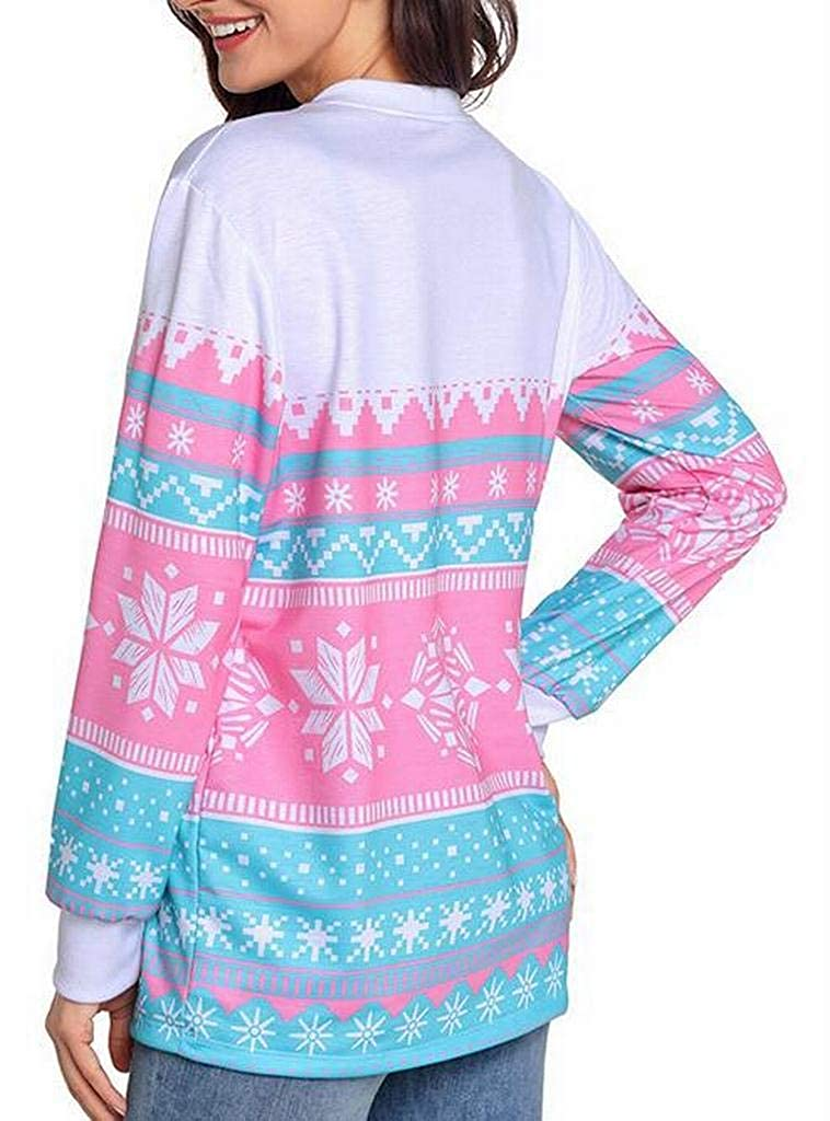 Teapolity Womens Print Plus Size Long Sleeve Loose Pullover Sweatshirt