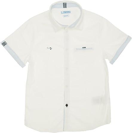 Short Sleeve Dress Shirt for Boys Mayoral 3150 White