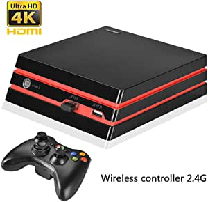 COOLBABY Nostalgic Retro Game Console Wireless Controller Version of the Game Console Built-in 600 Classic Games (Support HDMI HD + AV Video Dual Output Function)