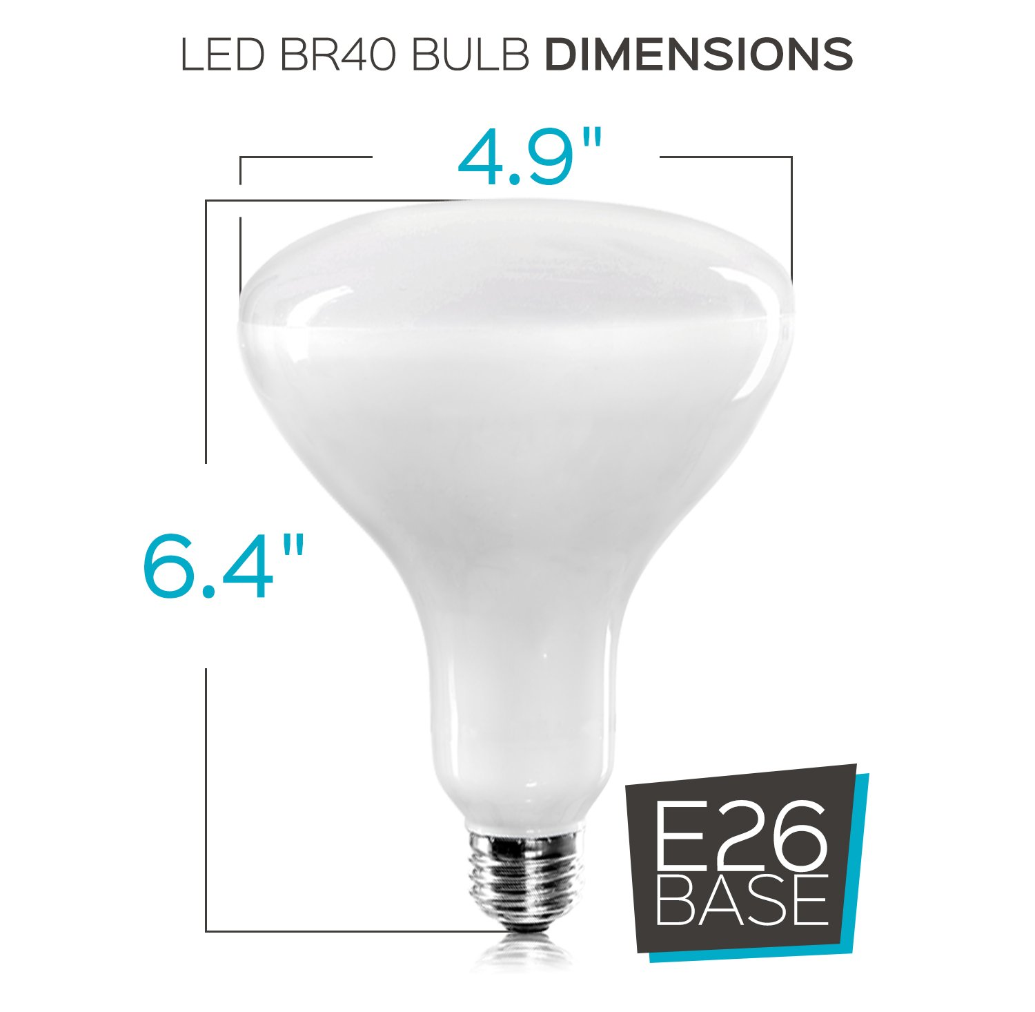 Luxrite BR40 LED Light Bulbs, 85W Equivalent, 3500K Natural White, Dimmable, 1100 Lumen, LED Flood Light Bulb, 14W, E26 Medium Base, Indoor/Outdoor - Perfect for Office and Recessed Lighting (12 Pack) by Luxrite (Image #5)