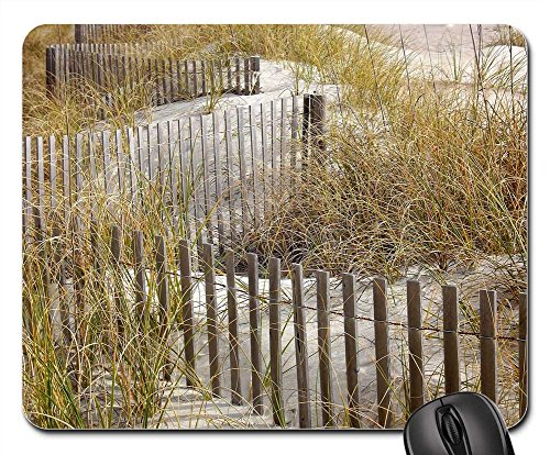 Mouse Pads - Grass Fence Clouds Sky Charleston Winter Waves