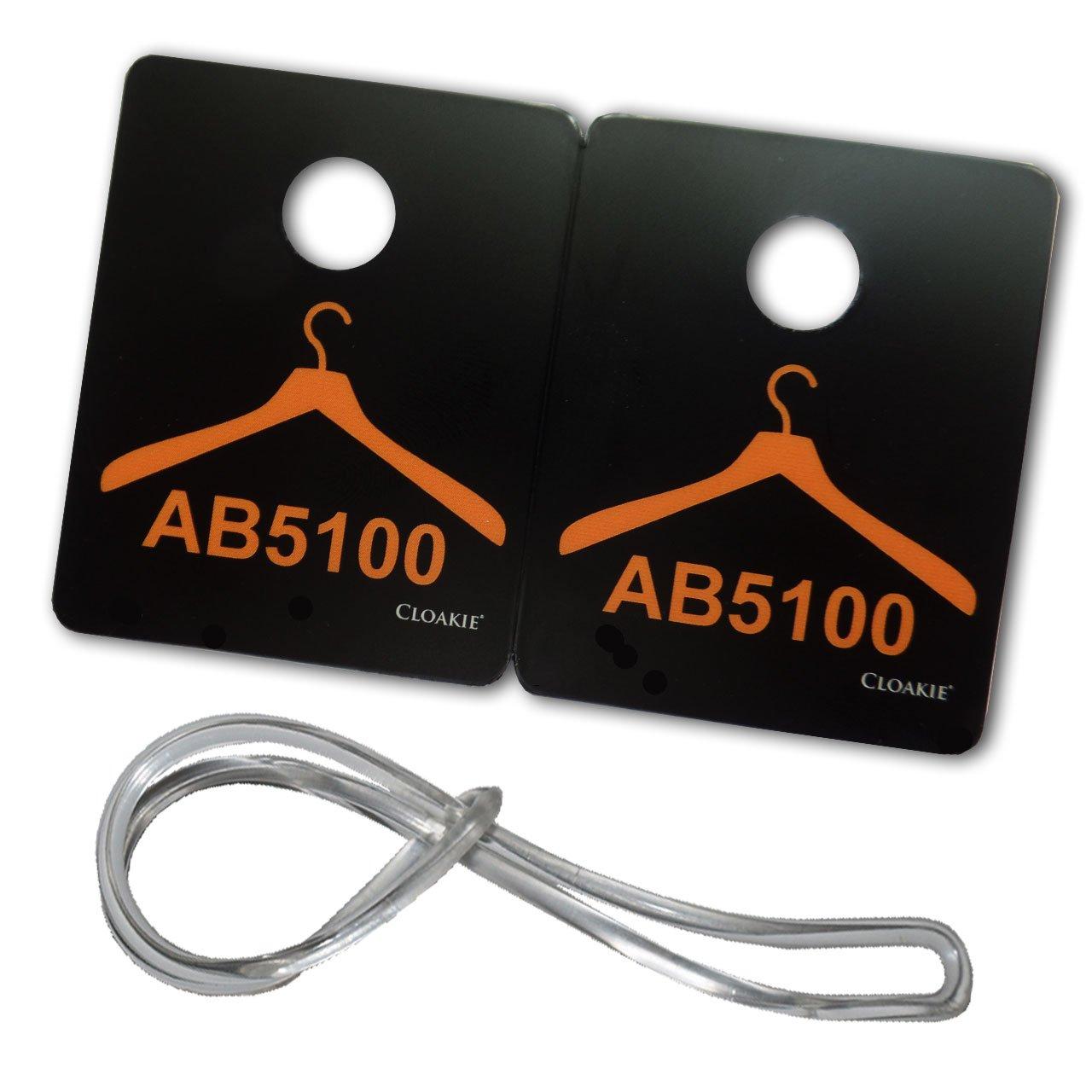 200 cloakie/® Mini in plastica motivo 100 etichette per confezione con occhielli bagno biglietti 100 fogli numerati e bagagli