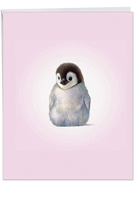 Birthday Card Zoo Babies Penguin Birthday With Envelope 8 5 X 11 Inch Adorable Baby Penguin Greeting You A Happy Birthday Zoo And Circus Animal