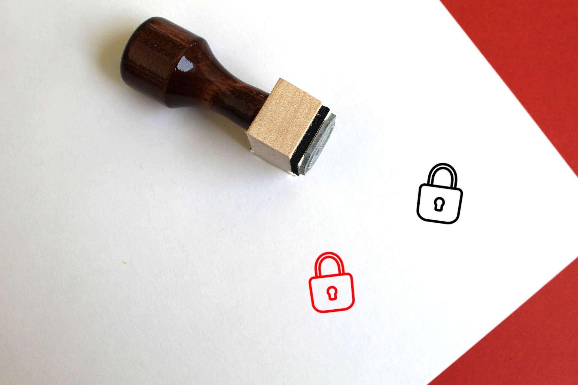 Lock Rubber Stamp (3'' x 3'')
