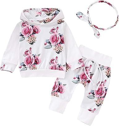 Ropa NiñOs NiñA Bebé Manga Larga Estampado Floral Camiseta Tops ...