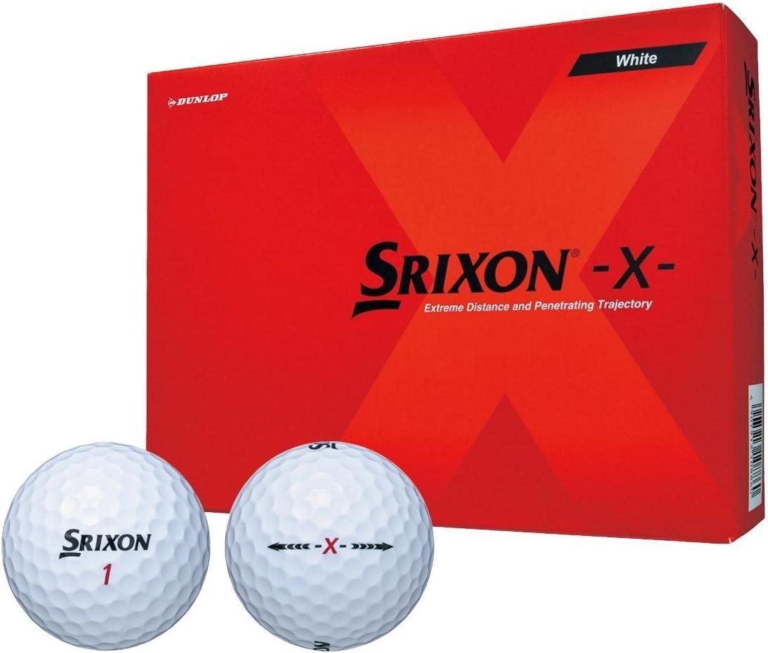 【3ダースセット】2017年モデル SRIXON スリクソン エックス X ゴルフボール (36P)ホワイト