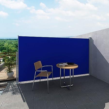 Anself - Toldo Lateral Para Patio Terraza Jardín Balcón,Soporte De Acero (160x0-300cm,Azul): Amazon.es: Hogar