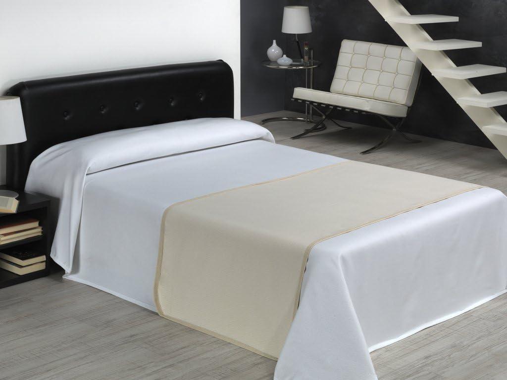SABANALIA Rombos - Colcha de piqué - Cama 200-300 x 280, Blanco