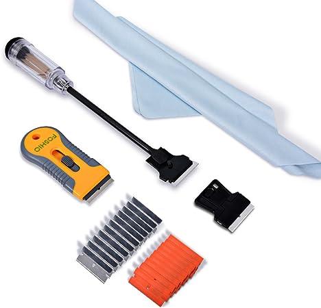 Multi-Purpose Razor Scraper Kit Cleaning Removal Tool W// 10 Blades Double Edged