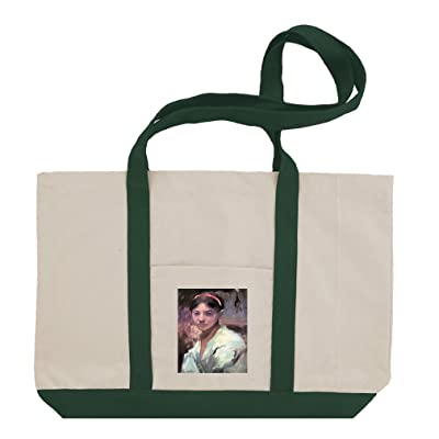 Head Of A Capri Girl (Singer Sargent) Cotton Canvas Boat Tote Bag Tote