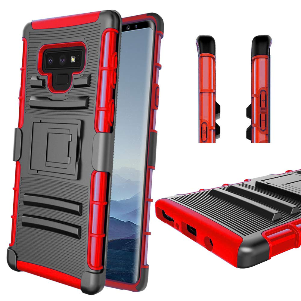 Blue Samsung Galaxy Note 9 Case,Note 9 Case,Samsung Note 9 Case,Note9 Case,Note 9 Case Belt Clip//Kickstand,Slinco Drop Tested Swivel Kickstand Durable Slim Galaxy Note 9 Case