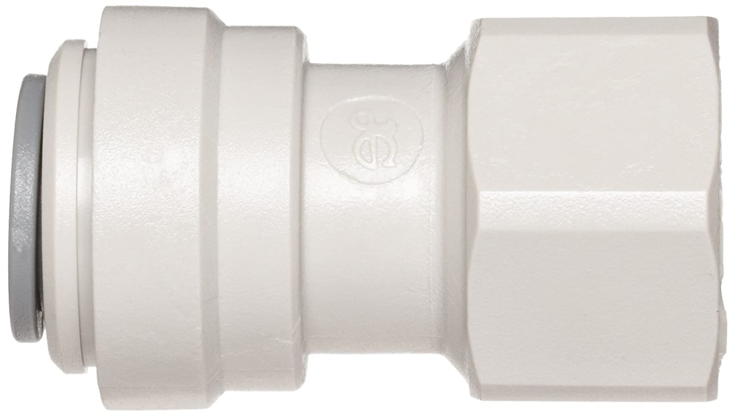 Flat End Adaptor John Guest Acetal Copolymer Tube Fitting Pack of 10 3//8 Tube OD x 1//2 BSP Female