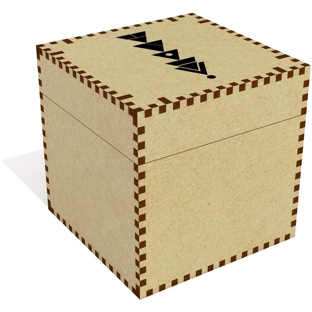 Azeeda Grande (81mm) 'Triángulos Abstractos' Joyería Caja (JB00028449)