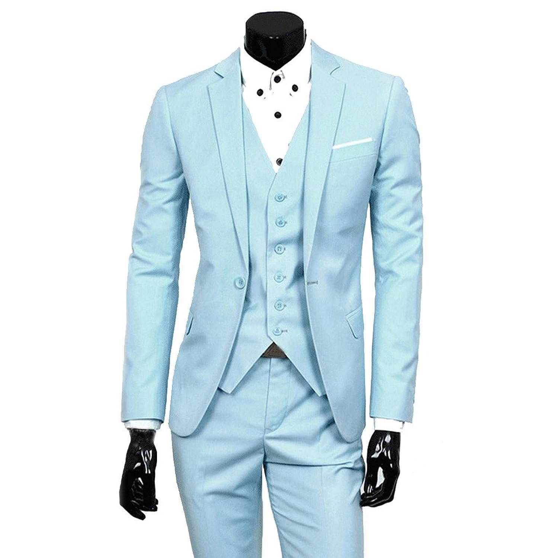 Stunner Men\'s Fashion Fit Suit Blazer Trousers 2 Piece Set Wedding ...