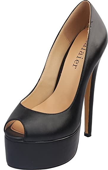 ce5fdb78be94 Calaier Womens Platform 15CM Stiletto Wedding Prom Party High Heel Pumps  Shoes