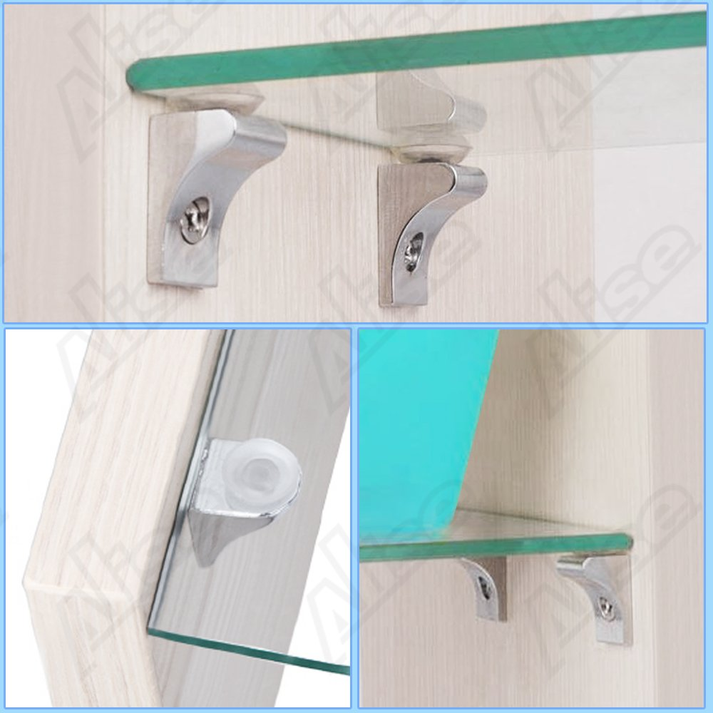 Amazon.com: Alise 20 Pcs Corner Brace Fixing Glass Shelf Bracket ...