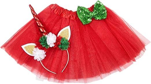 Amosfun Disfraz Unicornio de Niñas Vestido de Fiesta Princesa ...