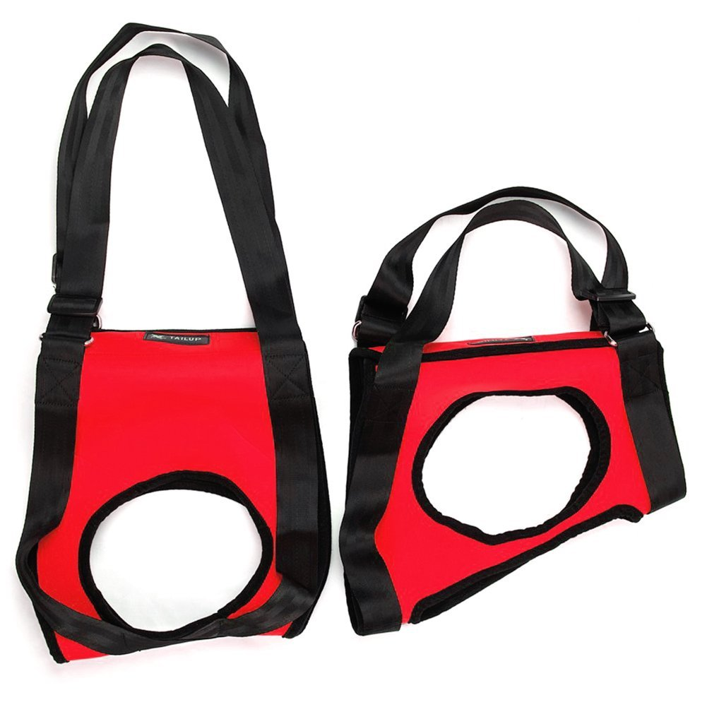 Red-Front and Rear Combo L Red-Front and Rear Combo L Gohunter Dog Lift Support Harness Assist for Canine Aid Lifting Older with Handle for Injuries, Arthritis Or Weak Hind Legs and Joints, for Mobility & Rehabilitation (L, Red-Front and Rear Combo)